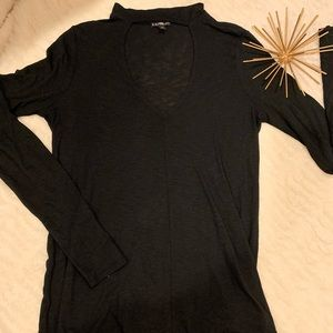 Like New Express Long Sleeve Black Top Size Small